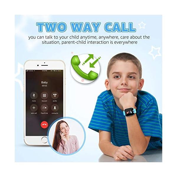 Reloj GPS Niños Smartwatch Phone - Reloj de Pulsera Inteligente con Ubicación GPS LBS Reloj con Call Voice Chat SOS… 3
