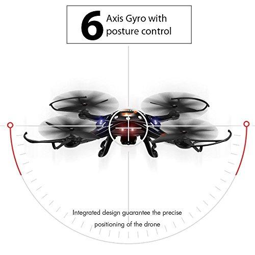 DBPOWER FPV WLAN RC Drohne mit 720P HD Kamera per Bewegungserkennung Gesteuerter Quadcopter One-Key Start / Landung