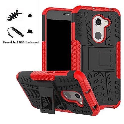 LiuShan Alcatel A3 Hülle, Dual Layer Hybrid Handyhülle Drop Resistance Handys Schutz Hülle mit Ständer für Alcatel A3 (5.0