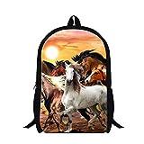 Generic Plush Horse stampa scuola zaino per studenti moda uomo trekking borse Horse6