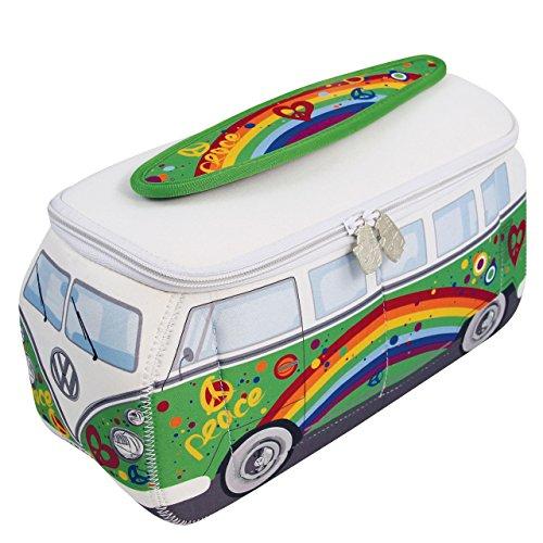 BRISA VW Collection Kulturbeutel Universaltasche im VW Bus T1 Design aus Neopren - Klein Kosmetiktasche Niedlich
