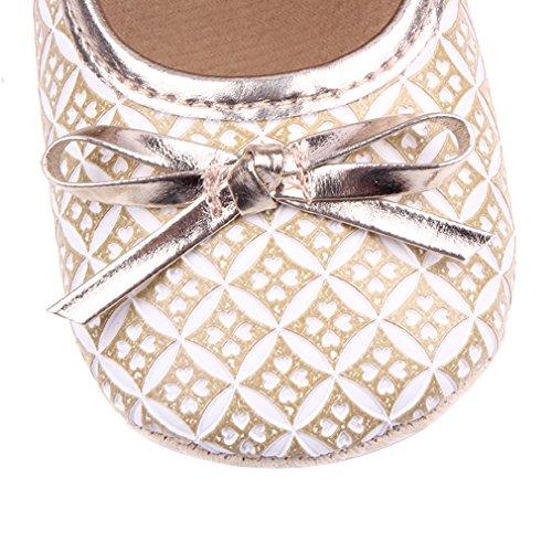 EOZY Babyschhe Mädchen Festlich Schuhe Lauflernschuhe Taufschuhe Gold