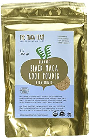 Gelatinized Black Maca Root Powder - 500gr - Fresh Harvest