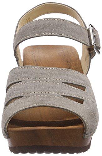 Woody Simone, Chaussures de Claquettes femme Gris - Taupe