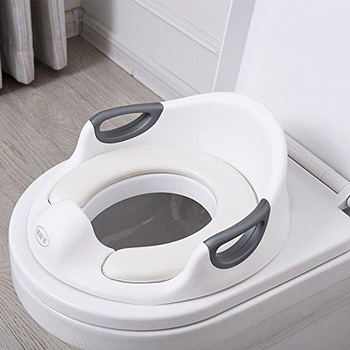 Toilettes pour enfants Toilet Training Seat - Bague de pour garçons ou Filles | Toilette de Pot d'enfant en Bas âge de bébé de Surface antidérapante sûre avec Les poignées Bleues