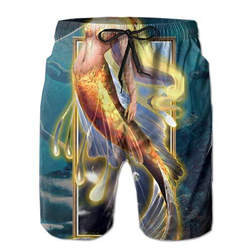 Nacasu Men's Casual Beach Trousers Surfer's Shorts Summer Pants Trunks for Man M