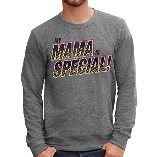 Sweatshirt Festa Della Mamma Special - LUSTIG by Mush Dress Your Style - Herren-XL-Grau (Halloween Special Lego)