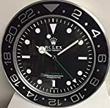 muro Pared Rolex 35 cm GMT II Master Metal Movimiento SILENCIOSO + 2 CD de Audio Regalo