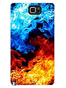 Samsung Note 5 Covers & Cases - Flames - Colorful - Abstract - Designer Printed Hard Shell Case
