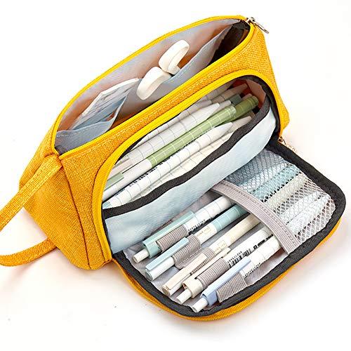 MX kingdom Premium Canvas Bleistiftbeutel,große kapazität Stift bleistiftbeutel Beutel Box,Große Kapazität Federmäppchen Durable,Geeignet für Schulen -