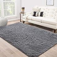Area Rug Shag Fluffy Rugs Shaggy Carpet Bedside Floor Mat Super Soft Non-slip for Living Room Dining Room Bedr