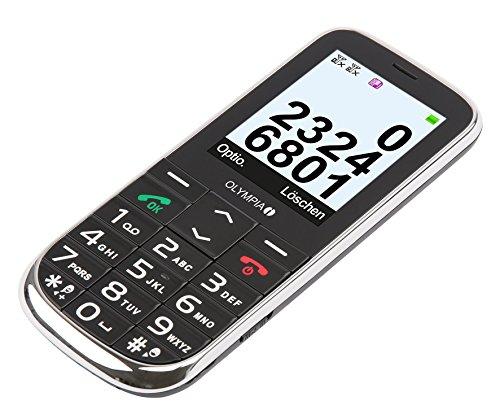 Olympia 2230 Joy Plus Großtastenhandy mit Kamera (Große Tasten, Notruf-Taste, Einfaches Senioren-Handy, Mobiltelefon für Rentner Ohne Vertrag, Altersgerechtes Tastenhandy mit Bluetooth) Schwarz (Quad-band Fm Bluetooth)