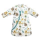 Baby Winter schlafsack Kinder schlafsack 3.5 Tog Schlafsaecke aus Bio Baumwolle Verschiedene Groessen von Geburt bis 4 Jahre alt (S/3-6Monate, Tierwelt)