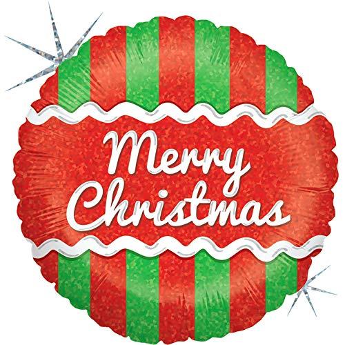 Betali 86931H-P Globo holográfico de glaseado de Navidad, paquete único, longitud de 18 pulgadas, multicolor, talla única