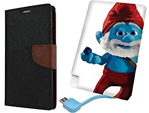 APE Wallet Cover and Printed Power Bank for HTC Desire 620