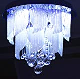 #10: Prop It Up Jhoomar Ceiling Light Decorative Chandelier with Three Color, Sound System and Bluetooth. with 2 Remote (400mm)