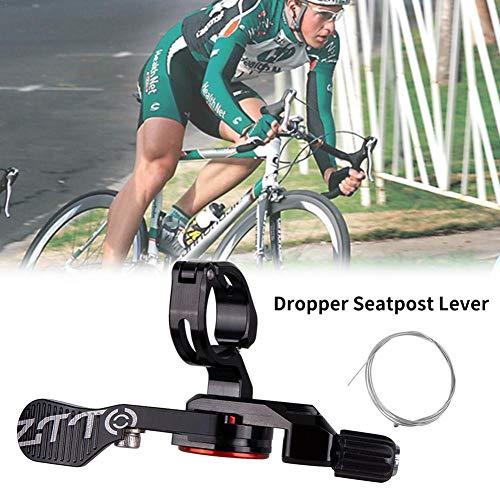 mollylover Bike Remote Lockout Hebel Mountainbike Fahrrad Line Control Lock Schalter Fahrrad Lifting Sitz Rohr Controller Draht Controller Schalter Lifting Sitzrohr Lock Schalter -