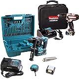 MAKITA Bohrhammer 10,8V 2x Akku 2.0Ah + Schlagbohrschrauber 12V HP331 PINK