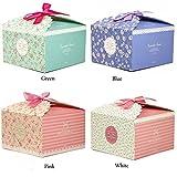 Scatole regalo Chilly, set di 12 scatole decorative per dolcetti, biscotti, dolci, caramelle e saponi fatti in casa scatole regalo per Baby Shower, Natale, compleanni, vacanze, lauree, matrimoni scatole regalo