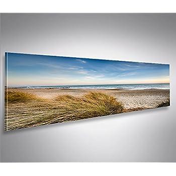 D nen meer strand sand 150x50cm breitbild als panorama auf leinwand und keilrahmen fertig - Dekoartikel meer ...
