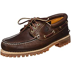 Timberland Authentics 3 Eye Classic, Náuticos para Hombre, Marrón (MD Brown Full Grain), 50 EU