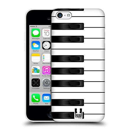 Head Case Designs Klavier Schlüssel Ruckseite Hülle für Apple iPhone 5 / 5s / SE Klavier