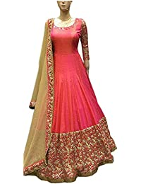 Sai Creation Women's Pink Silk Salwar Suits For Women Party Wear(X201_FreeSize)