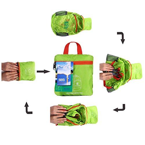 EGOGO impermeabile pieghevole Packable Escursionismo viaggio zaino scuola borsa zaino per le ragazze, ragazzi, College gli studenti S2016 Orange