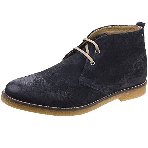 Base London Mens Perry Smart Burnished Suede Leather Desert Boots