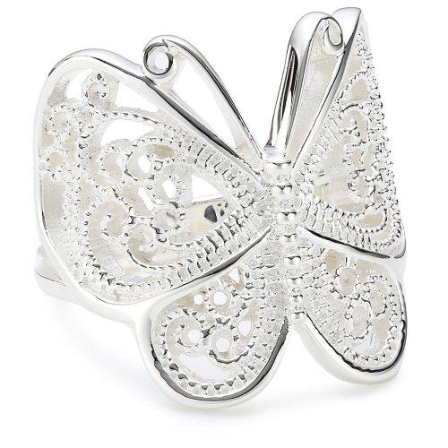 Vinani Ring Schmetterling Paisley glänzend Sterling Silber 925 Größe 62 (19.7) RSL62