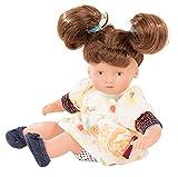 Götz 1887228 Mini-Muffin Macaron Puppe - 22 cm große Babypuppe, gemalte braune Augen, braune Haare...