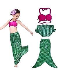 jysport niña traje disfraz de cola de la Sirenita niños Bikini Set de baño infantil Beachwear, verde