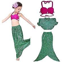 Jysport - disfraz para niña de la Sirenita, para la piscina, playa, verde