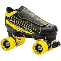 Roller Derby Sting 5500 Men's Quad Skate Pattini a Rotelle, Uomo, Nero (schwarz/gelb), 8