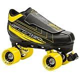 Roller Derby Herren Rollschuhe Sting 5500 Men's Quad Skate, schwarz/gelb, 12, U770