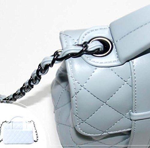 Borse Borsa Nuovo Borsa Messenger Versione Coreana Simple Lingge Chain Pacchetto Wild Fashion Personality Borsa A Tracolla Skyblue