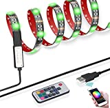 2M USB Led Strip Lights con 17 teclas de control remoto, impermeable 60 Led 5050 SMD RGB Led Strip, TV Backlight Ordenador Coche Bicicleta Decoración de fiesta de Navidad ArtPad