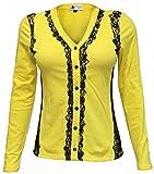 Attuendo Women's Lace Overlay Knit Shirt...