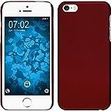 PhoneNatic Custodia Rigida per Apple iPhone 5/5s/SE - gommata rosso - Cover pellicola protettiva