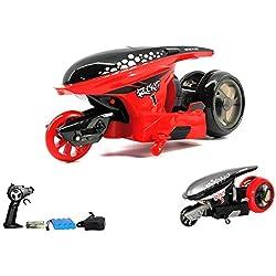 2,4GHz RC teledirigido Stunt motocicleta, Auto, Vehículo, motocicleta, Stunt, modelo con función de movimiento de 360° con control remoto