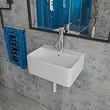 Design Keramik Waschbecken Waschtisch Waschschale Aufsatzwaschbecken Aufsatzwaschtisch Gäste WC Becken KB-P237 BxTxH 40x30x12cm
