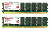 KOMPUTERBAY 2GB ( 2 X 1GB ) DDR DIMM (184 PIN) 266Mhz DDR266 PC2100 Desktop Arbeitsspeicher mit Samsung chips