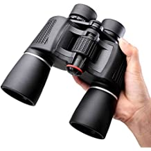 NOCOEX® 10X50 Prismáticos Super High-Powered prisma Porro Binoculars - (negro)