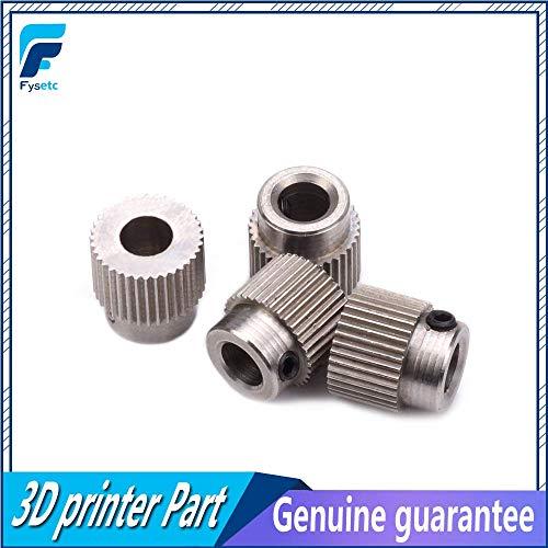 AiCheaX - 50 piezas Accesorios para impresoras 3D 36 dientes MK7 / MK 8 Extrusora de rueda de engranaje planetario de acero inoxidable Rueda de extrusión de alimentación
