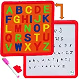 #10: Akhand 2 in 1 Educational Writing and Drawing Board for Kids with Magnetic ABC Alphabets