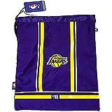 Panini. NBA - Bolsa de Gimnasio Los Angeles Lakers con elástico y Cremallera + Llavero Silbato