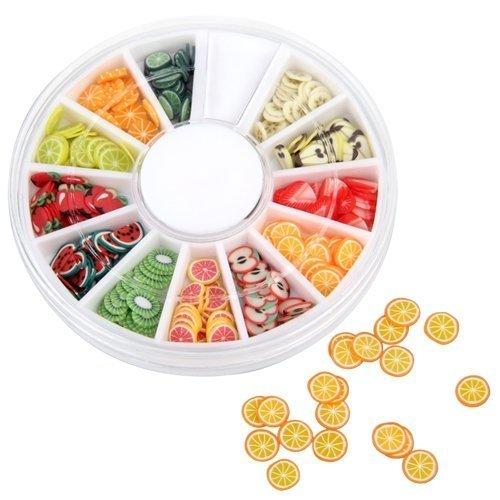 heylookhere Creative Fruit Slice Nail Art Tipps UV Gel Nail Patch Dekoration - Fruit Gel