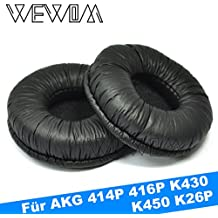 WEWOM 2 Cojinetes para AKG 414P 416P K430 K450 K26P, negro