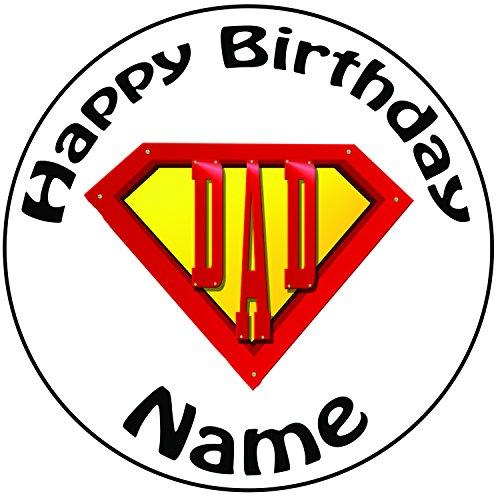 er Dad Logo Zuckerguss Kuchen Topper / Kuchendekoration - 20 cm Großer Kreis - Jeder Name Und Jedes Alter (Ideen Halloween Decoracion)