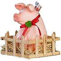 XXL Sparschwein Jimmy mit Stall Glücksschwein Geldgeschenk preisvergleich bei kinderzimmerdekopreise.eu